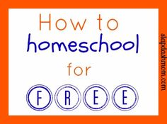 How to Homeschool for Free {Resources & Links}