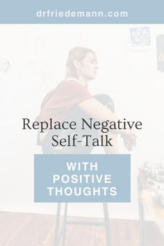 """Replace Negative Self-Talk with Positive Thoughts 🌻 If you, too, struggle with a restless, anxious mind, you've probably noticed that the chatter can be especially negative and annoying at the most inopportune moments. Maybe just before a presentation your inner voice says, """"What if you freeze up in front of your boss?"""" or """"People will see right away you're a fraud."""" This method is so effective that most of my clients can significantly reduce their negative self-talk within a few weeks. Negative Self Talk, Negative Thoughts, Positive Thoughts, Anxiety Relief, Stress Relief, Fear Of Being Alone, Confidence Boost, Self Empowerment, Subconscious Mind"""