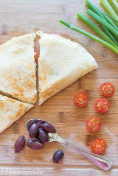 Greek-Style Quesadillas from @Fifteen Spatulas   Joanne Ozug
