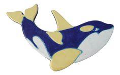 Mid-Century Hawaiian Orca Pottery Plaque on Chairish.com