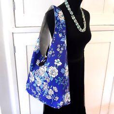 Vintage Fabric RETRO bag -  CUSTOM MADE  blue green Options   £24.00