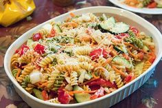 Healthy Pasta Salad from Food.com: A great and nutritious party salad-even for vegetarians!