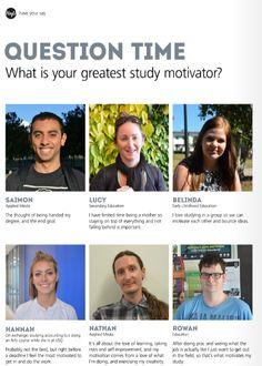 USQ students share what motivates their study in HeyU issue 35 http://www.usq.edu.au/SocialHub/behind-the-scenes/2015/08/heyu35