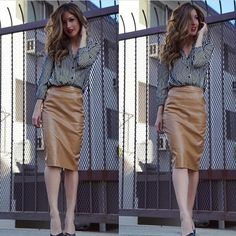 5a6e98d2a1257 Missguided Dresses & Skirts - Cognac Leatherette Skirt on Poshmark  Missguided Dresses, Leather Skirt,