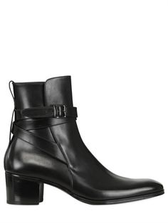 FINALE UNLIMITED - 60MM BRUSHED LEATHER BUCKLE BOOTS