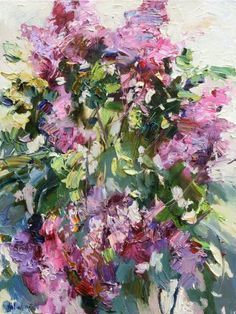 Blooming lilac - Original oil painting