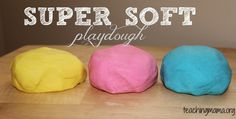 Just adding 1 secret ingredient to this recipe will help you make super soft playdough.