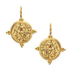 Julie Vos Quatro Coin earrings
