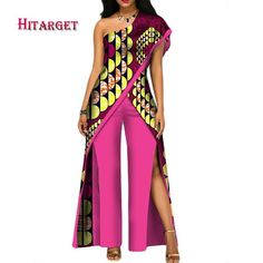 2017 new autumn African jumpsuit for women sexy off shoulder Jumpsuit dashiki clothing batik wax printing pure cotton African Attire, African Wear, African Dress, African Outfits, African Fashion Ankara, African Print Fashion, African Traditional Dresses, Traditional Outfits, African Jumpsuit