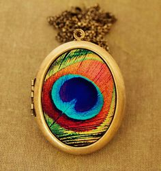 The Eye  Colorful Peacock Feather Grande Photo by HeartworksByLori, $60.00