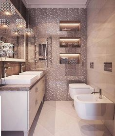 "Grace -  Home Decor on Instagram: ""Brilliant! Rate this bath from 1 to 10.... . By @lidiyabolshakova #lovefordesigns#custombuilt #homedesign#interiordecor#bathroomdesign…"""
