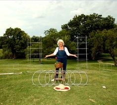 Texas Tomato Cage.  fold flat for storage and have extensions for up to 6 feet high for indeterminate varieties