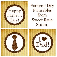 Father's Day Printables from Sweet Rose Studio #FathersDay #freebies #printables