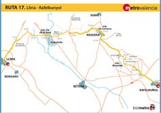 Metrovalencia - Bicimetro - From Llíria a RafelBunyol