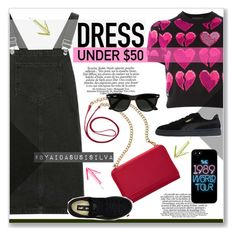 """""""Dress Under $50"""" by aidasusisilva ❤ liked on Polyvore featuring Philipp Plein, Topshop, TravelSmith, Puma, Ray-Ban and Dressunder50"""