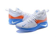 cheap for discount 3cba7 963d3 Nike Zoom PG2 Playstation Uomini Basketball Sports Bianca Royal Blu Arancia  Espadrilles, Nike Air Vapormax