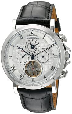 Lucien Piccard Watches Acropolis Automatic Multi-Function Leather Band Watch >>> Check this awesome watch by going to the link at the image. Casual Watches, Cool Watches, Watches For Men, Lucien Piccard, Acropolis, Watch Model, Leather Watch Bands, Black Models, Automatic Watch