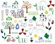 Eco-friendly Doodles Vector Illustration Stock Image