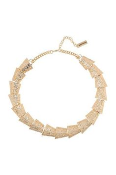 platinum-finds ~ Products ~ Steve Madden Multi-Triangle Textured Link Collar Necklace Gold ~ Shopify