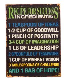 Black 'Success' Wall Art by VIP International on #zulily