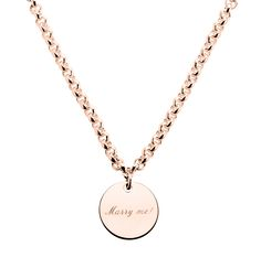 Necklace Marry Me Marriage Proposal by strawberry & cream Heiratsantrag