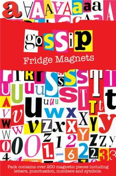 Spread the gossip round your house with these Gossip Fridge Magnets, including over 200 magnetic letters, numbers and symbols. Go Fridge, Magnetic Letters, One Liner, Punctuation, Drinking Tea, Gossip, Symbols, Organize, Holidays