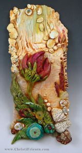 """from the """"Flourish: Flora"""" book #christiFriesen #polymer, polymer with turquoise, pearl, coral, citrine"""