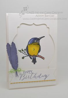 Gothdove Designs - Alison Barclay - Stampin' Up! Australia - A Happy Thing - Sale-A-Bration - CASE-ing the Catty #SAB2015 #stampinup #gothdovedesigns #blendabilities