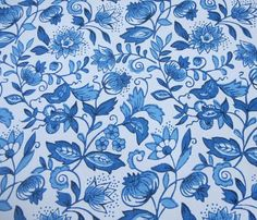 Vintage Wallpaper Roll Schumacher Blue Onion by PeppermintBark, $42.50