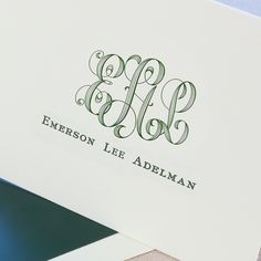 Explore Baroque Letterpress Monogram Notes and more quality stationery at Crane. Customize the stationery you need to share the special moments in your life Monogram Stationary, Personalized Stationary, Personalized Note Cards, Monogram Styles, Monogram Fonts, Stationery Paper, Stationery Design, Carolina Herrera, Karl Lagerfeld
