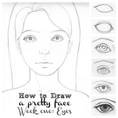 Drawing a face EYES collage1