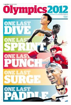 Guardian Olympics 2012 daily supplement cover