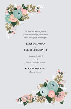 Design wedding invitations with Vistaprint! With hundreds of wedding invitation templates to choose from, there's something to suit all wedding themes and styles. Design your wedding invites now! Affordable Wedding Invitations, Inexpensive Wedding Venues, Floral Wedding Invitations, Wedding Invitation Templates, Invites, Wedding Who Pays, Wedding Show, Wedding Themes, Wedding Events