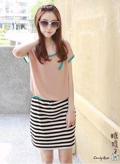 Pink Cute Summer Losse Top Korean Fashion Dress