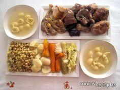 Escudella i Carn d'Olla - caldo y sopa catalanes y estofado de carne