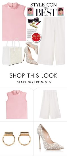 """Untitled #1814"" by anarita11 ❤ liked on Polyvore featuring RED Valentino, MANGO and Casadei"