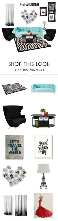 """living room"" by pandaaaaaaa2020 ❤ liked on Polyvore featuring interior, interiors, interior design, home, home decor, interior decorating, Tom Dixon, Furinno, Trademark Fine Art and living room"