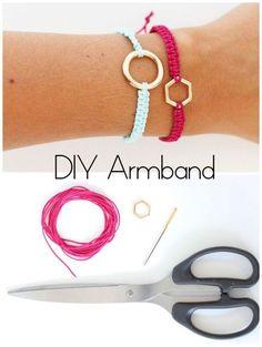 Tutorial für ein Macramé Armband diy jewelry making DIY Macramé Armbänder Bracelets Diy, Diy Jewelry Rings, Diy Jewelry Unique, Diy Jewelry To Sell, Diy Jewelry Tutorials, Macrame Bracelets, Diy Jewelry Making, Jewelry Crafts, Macrame Knots