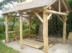 Traditional Handcrafted outdoor Furniture - benches, fences and timber buildings