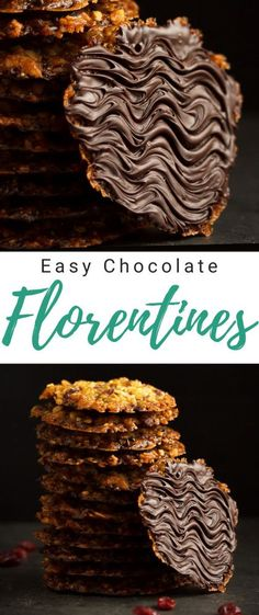 Rich, indulgent and crispy, these beautiful homemade chocolate florentines are a delightful treat! Click for the full recipe, helpful tips, video guide and much more... #florentinecookies #florentinesrecipe #florentines #florentinelacecookies #florentinebiscuits Florentine Biscuits, Florentine Cookies, Easy Main Course Recipes, Fun Easy Recipes, Dinner Recipes, Shortcrust Pastry Mince Pies, Chocolate Florentine Recipe, Homemade Chocolate, Chocolate Recipes