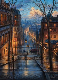 Montmartre dream ~ Paris, France Artist: Awesome Founders: - Best Places to Visit X Places To Travel, Places To Visit, Travel Route, Belle Photo, Beautiful Places, Wonderful Places, Wonderful Picture, Scenery, Around The Worlds