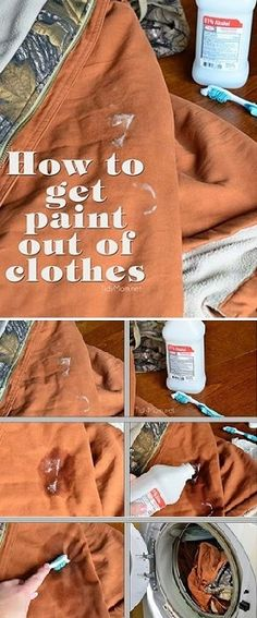 How to Get Paint Out of Clothes