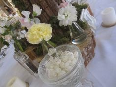 Each table was equipped with a glass jar full of mints.