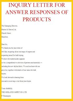 Inquiry Letter For Business Sle Business Letters New Calendar Template Site  News To Go 2 .