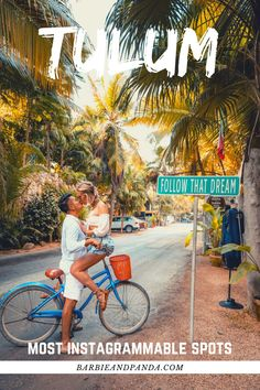 """Most Instagrammable spots in Tulum Mexico! Check out the famous """"Ven a la Luz"""" sculpture, """"Follow That Dream"""" sign near Tulum beach, the famous Chichén Itzá Mayan ruin that is just a short drive away, the beautiful Cenote Oxman, and Cenote Suytun. Click on the link to check out our blog post for more details and pro-tips on these locations. Mexico Destinations, Mexico Resorts, Tulum Mexico, Mexico Vacation, Mexico Travel, Mexico City, Travel Advise, Travel Tips, Central America"""