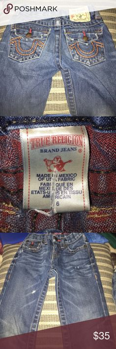 Authentic Boys True Religion Jeans Size 6 in great condition. Used a few times then my son grew out of them real quick. AUTHENTIC! True Religion Bottoms Jeans