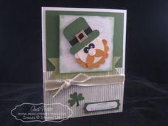 #punchart leprechaun card for St Patricks Dat