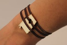 Brown Leather Alabama Forever Wrap Bracelet (also available in black). $22.00, via Etsy. NEED THIS!