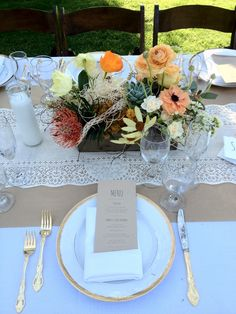 Cree Estate/ Palm Springs wedding by TEND. Ranunculus, poppy, protea, cholla & succulent centerpiece with tumbleweed detail. www.tendliving.com