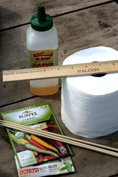 Make Your Own Seed Tape! Great idea for those tiny seeds like carrots, if you dislike thinning or planting with kids.
